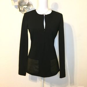 Worth Bodycon versatile top with leather pockets